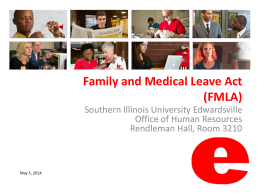 FMLA - Southern Illinois University Edwardsville