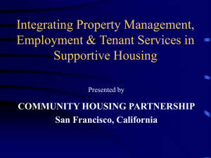 Integrating Property Management, Tenant Services and Employment