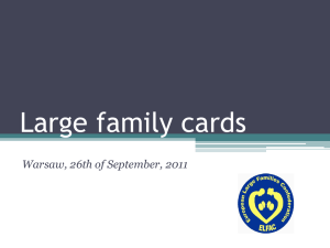 Large family cards