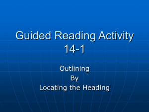 Guided Reading Activity 14-1