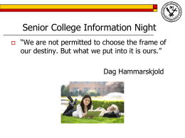 Senior College Information Night