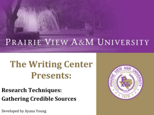 Research_Techniques - Prairie View A&M University
