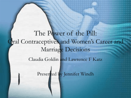 The Power of the Pill - Duke University | Economics