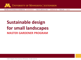 Landscaping for small spaces - University of Minnesota Extension