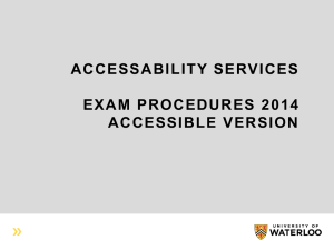 Exam Policy & Procedures 2014 Accessible Version