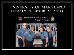 Safety - New Student Orientation