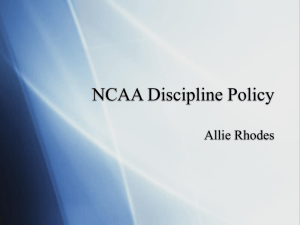 NCAA Discipline Policy