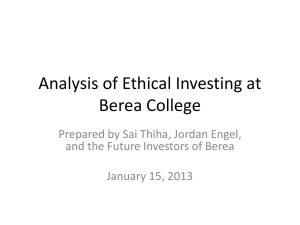 Analysis of Ethical Investing at Berea College-1