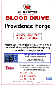 Miller-Keystone Blood Drive Summer 2013 Providence Forge