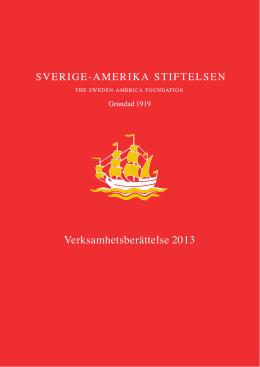 VB 2013 - Sverige-Amerika Stiftelsen