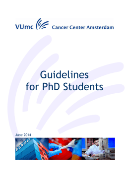 471. Guidelines for PhD Students 15 juli 2014