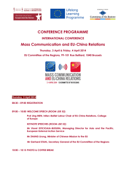CONFERENCE PROGRAMME Mass