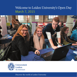 Welcome to Leiden University`s Open Day