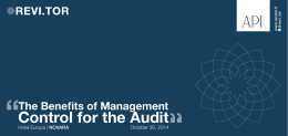 Control for the Audit