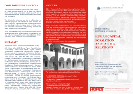 HUMAN CAPITAL FORMATION AND LABOUR RELATIONS