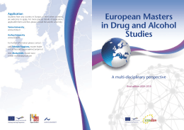 European Masters in Drug and Alcohol Studies