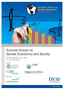 Summer School on Gender Economics and Society