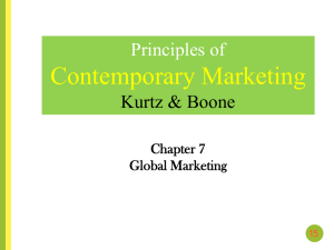 CHAPTER 7 Global Marketing