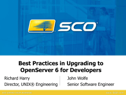Best Practices in Upgrading to OpenServer 6 for Developers