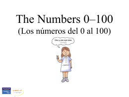 The numbers 0