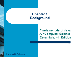 Fundamentals of JAVA Chapter 1 PowerPoint Background