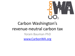 PPT presentation - Carbon Washington