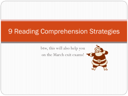 9 Reading Comprehension Strategiesx