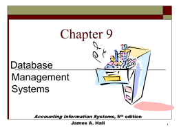 Chapter 9 - Accounting and Information Systems Department