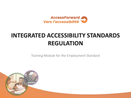 Integrated Accessibility Standards Regulation Training Module 4
