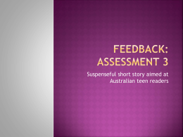 Feedback ppt assessment 3 suspense 2013