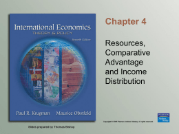 Chapter 4 Resources and Trade: The Heckscher