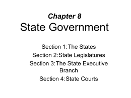 Chapter 8 State Government - Waverly