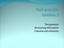 Text analysis week 2