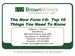 The New Form I-9: Top 10 Things You Need To Know