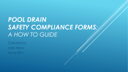 Pool Drain safety Compliance Forms: a How to guide