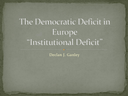 Institutional Deficit