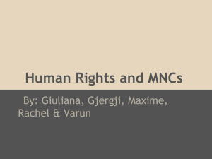 Human Rights and MNCs