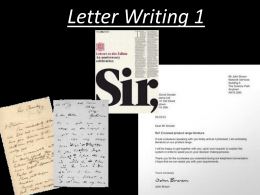 2. How to write a business letter.