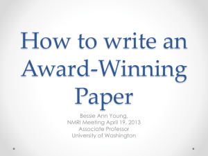 How to write an Award