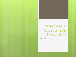 Productivity - mona alahmadi