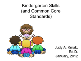 Kindergarten readiness PowerPoint presentation