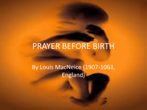 PRAYER BEFORE BIRTH