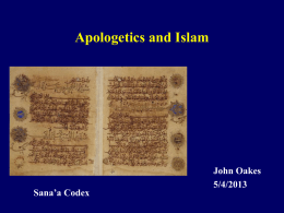 Islam-Apologetics - Evidence for Christianity