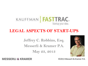 Legal Aspects of Start-Ups