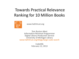 Towards Practical Relevance Ranking for 10 Million
