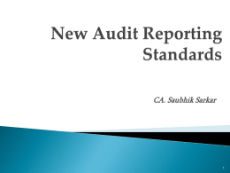 Auditor`s Report