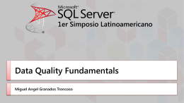 Data Quality Knowledge Base - Shanghai SQL Server User Group