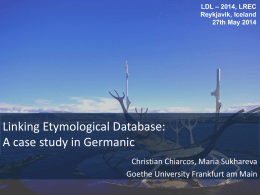 Linking Etymological Database: A case study in Germanic