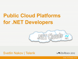 Public Cloud Platforms for .NET Developers - Svetlin Nakov