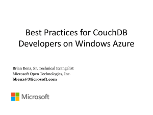 11:00-Best Practices for CouchDB Developers on